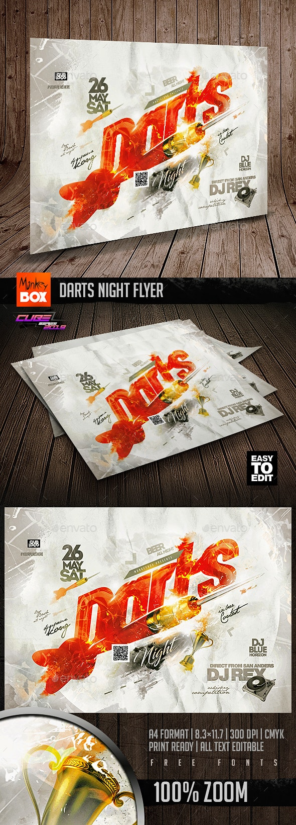 Darts Night Flyer - Clubs & Parties Events