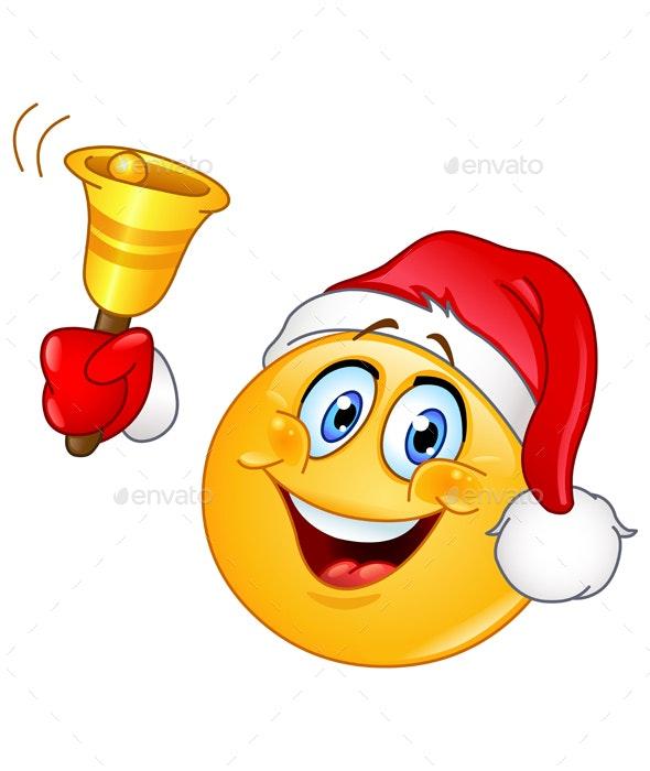 Christmas Emoticon with Bell - Christmas Seasons/Holidays