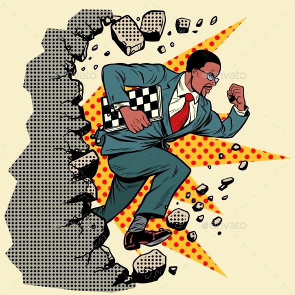 Chess Grandmaster Breaks a Wall - Sports/Activity Conceptual