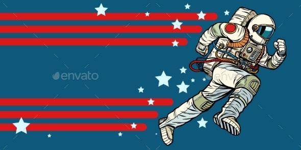 Astronaut Runs Forward - Miscellaneous Vectors