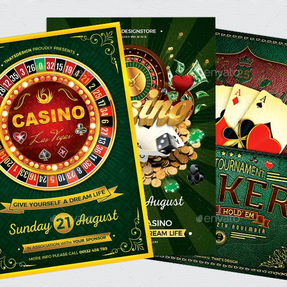 Poker and Casino Flyer Bundle
