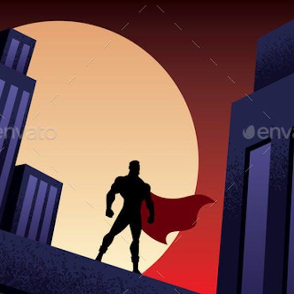 Superhero City Night