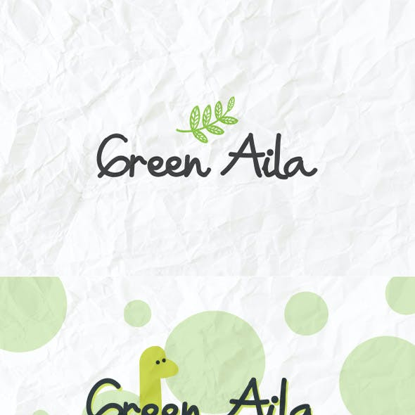 Green Aila Cute Comic Handwriting