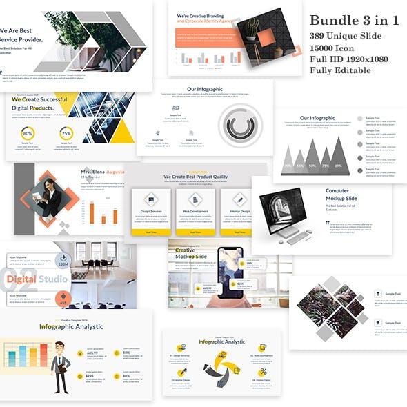 3 in 1 Bundle Power Creative PowerPoint Template
