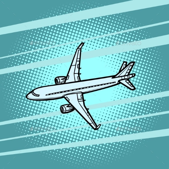 Aircraft Air Transport Blue Background - Man-made Objects Objects