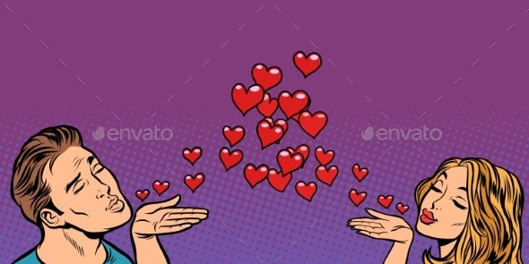 Love Couple Kiss Heart - People Characters
