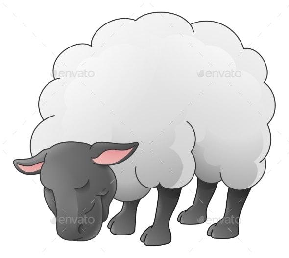 Sheep Animal Cartoon Character - Animals Characters