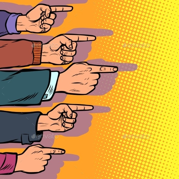 Many Hands Point the Finger - Concepts Business