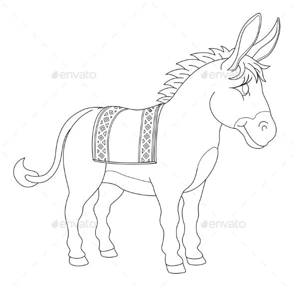 Donkey Animal Cartoon Character - Animals Characters