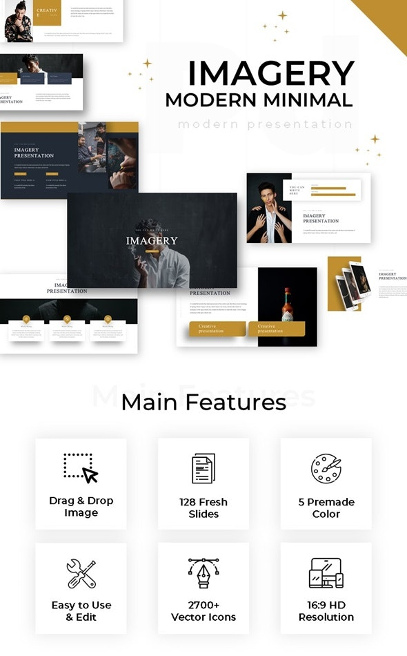 Imagery Modern Minimal Powerpoint - Business PowerPoint Templates