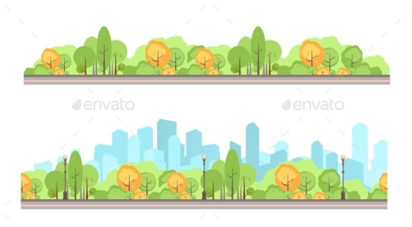 City Park Set - Landscapes Nature