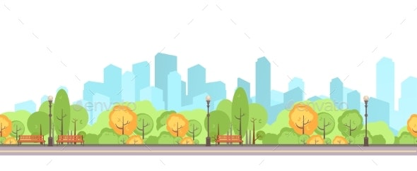 City Park Vector - Landscapes Nature