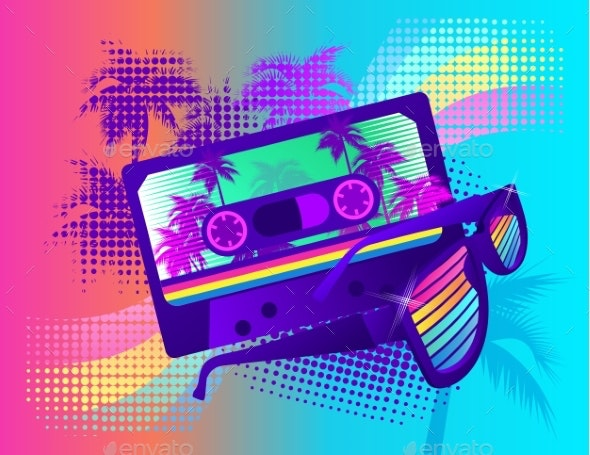 Retro Party Wave - Backgrounds Decorative