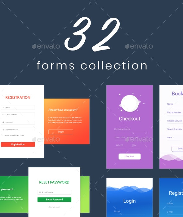 Tipi - Form Templates Collection - Forms Web Elements
