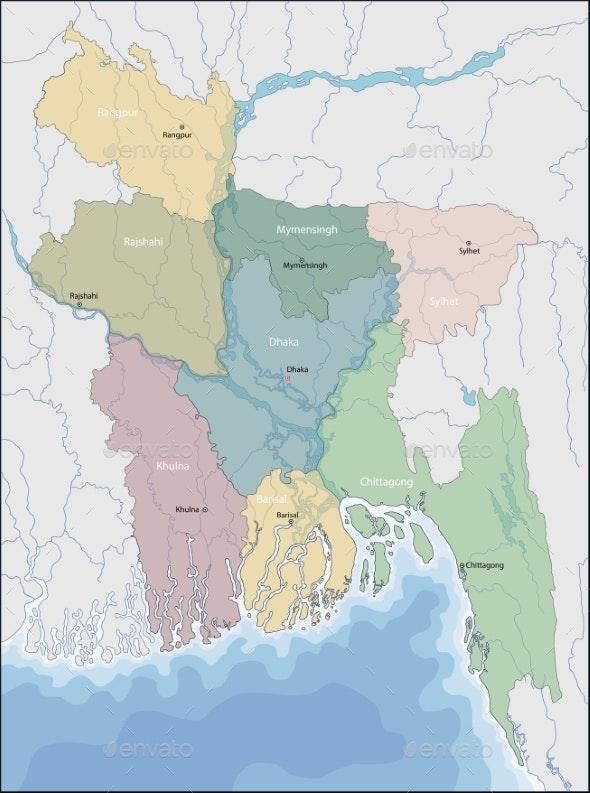 Map of Bangladesh - Miscellaneous Vectors