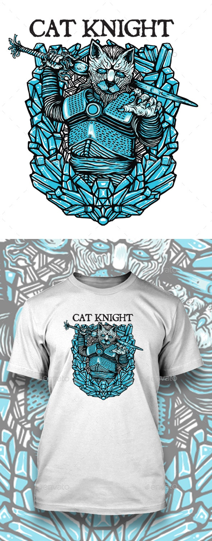 CAT KNIGHT TSHIRT DESIGN - Funny Designs