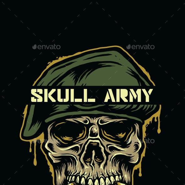 SKULL ARMY T-SHIRT DESIGN