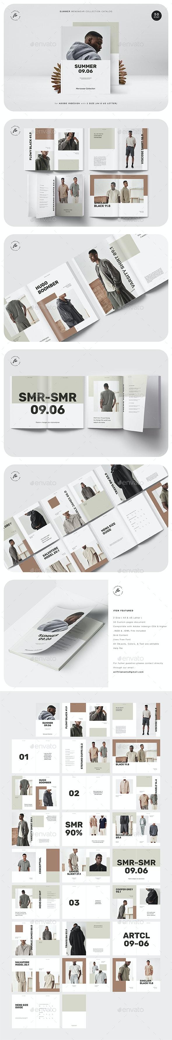 Summer Menswear Collection Catalog - Magazines Print Templates