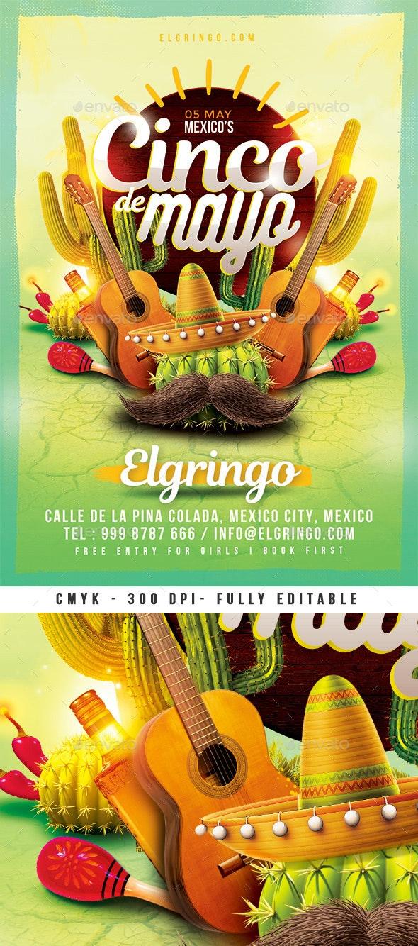 Mexico Cinco De Mayo Flyer - Clubs & Parties Events