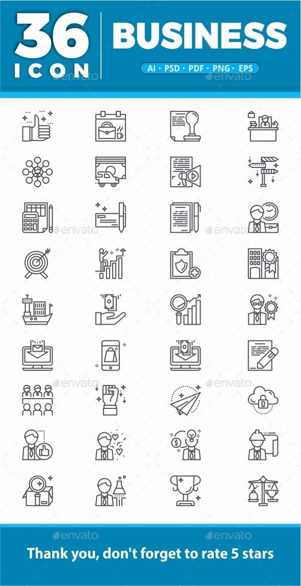 Elegant 36 Business icon - Icons