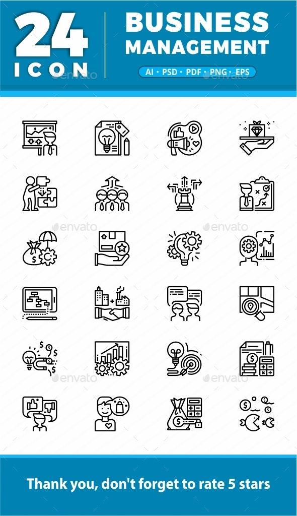 Elegant 24 Business Management icon - Icons