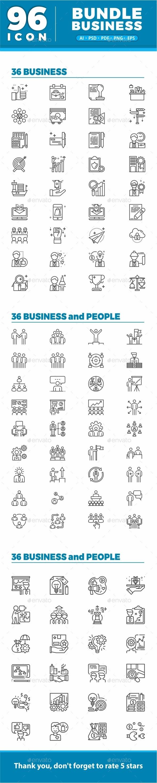 Bundle 96 Business Icon Set - Icons