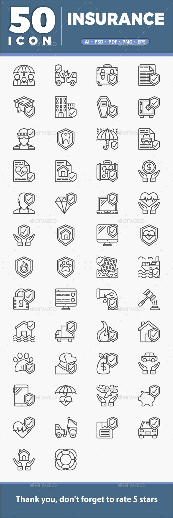 50 Insurance Icon - Icons