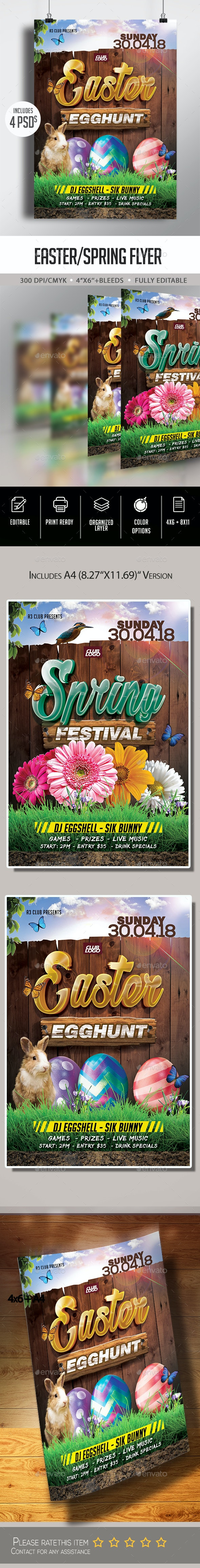 Easter/Spring Flyer - Clubs & Parties Events