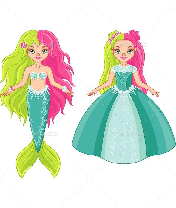 Princess and Mermaid - People Characters