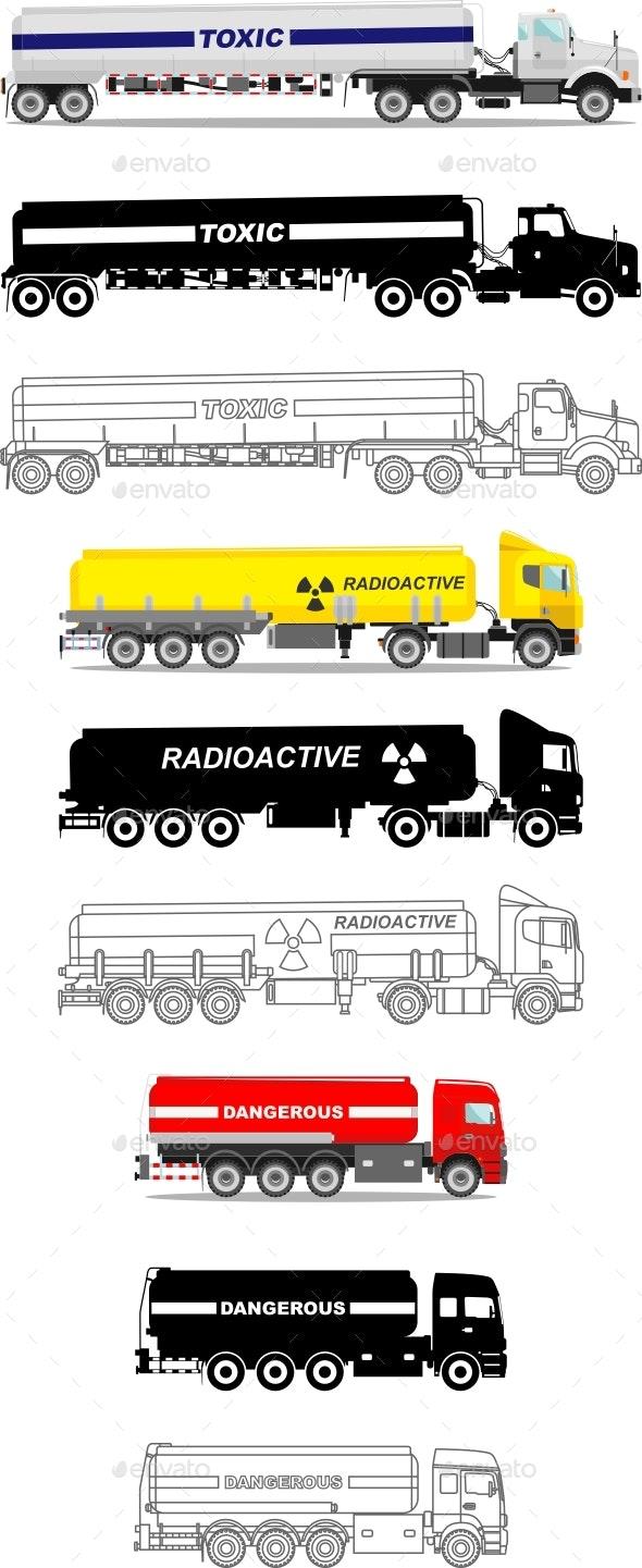 Tank Trucks - Man-made Objects Objects