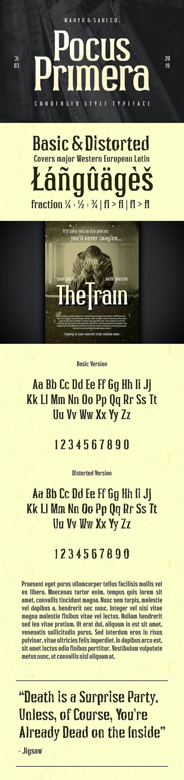 Pocus Primera - Condensed Serif