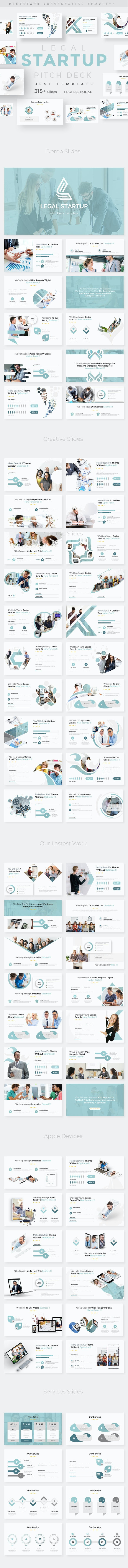 Legal Startup Pitch Deck Powerpoint Template - Business PowerPoint Templates