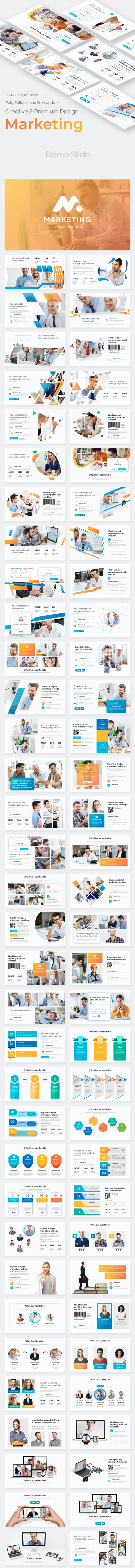 Product Marketing Pitch Deck Powerpoint Template - Business PowerPoint Templates