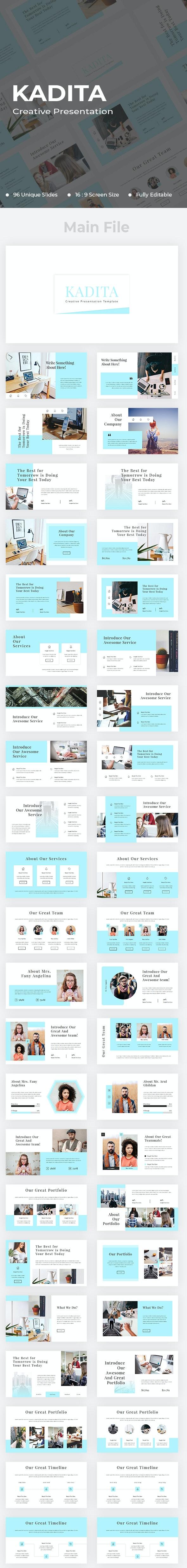 Kadita Creative PowerPoint - Creative PowerPoint Templates