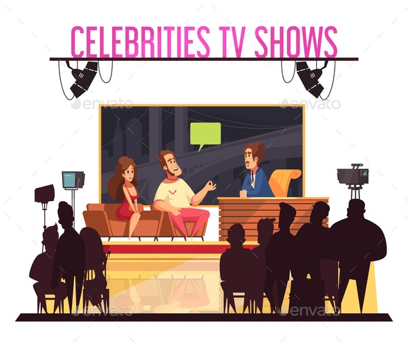 Celebrities TV  Show  Composition - Miscellaneous Vectors