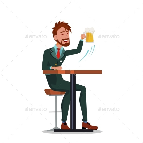 Man in Business Suits Relaxing at The Bar - Food Objects
