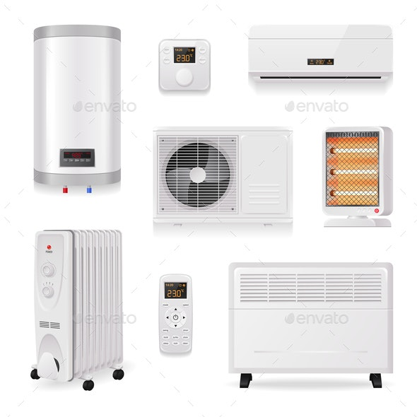 Climate Control Equipment Set - Man-made Objects Objects