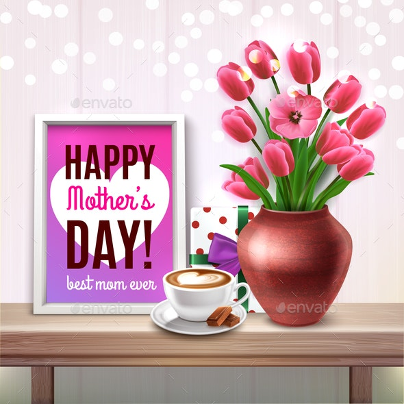 Mothers Day Colored Composition - Flowers & Plants Nature