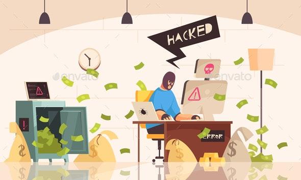 Hacker Computers Composition - Miscellaneous Conceptual