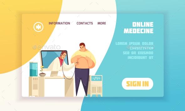 Online Medicine Concept Banner - Health/Medicine Conceptual