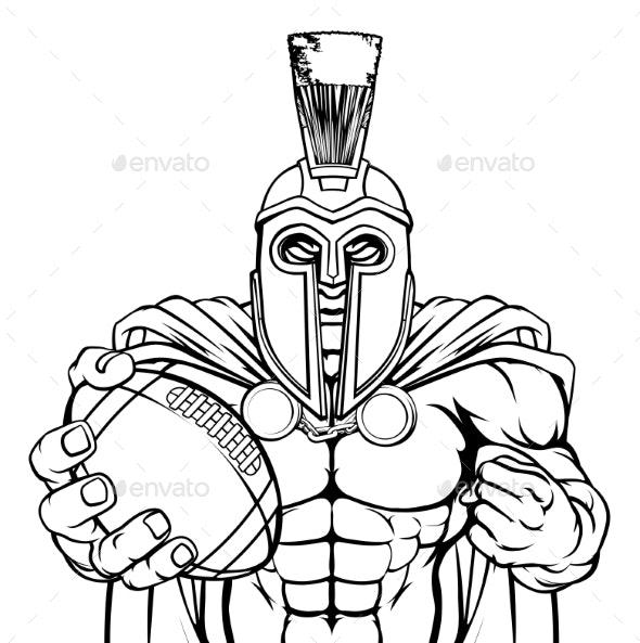 Spartan Trojan American Football Sports Mascot - Sports/Activity Conceptual