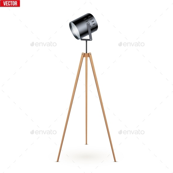 Decorative Spotlight Floor Lamp Tripod - Man-made Objects Objects
