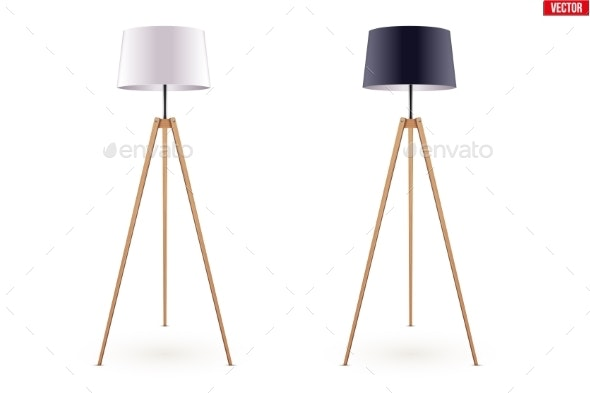 Decorative Floor Lamp Tripod - Man-made Objects Objects