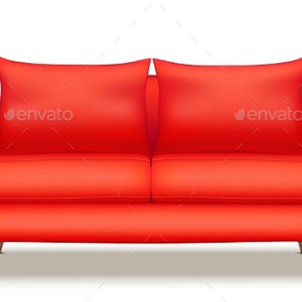 Modern Red Soft Sofa