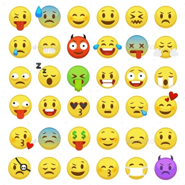 Emoticons Set - People Characters