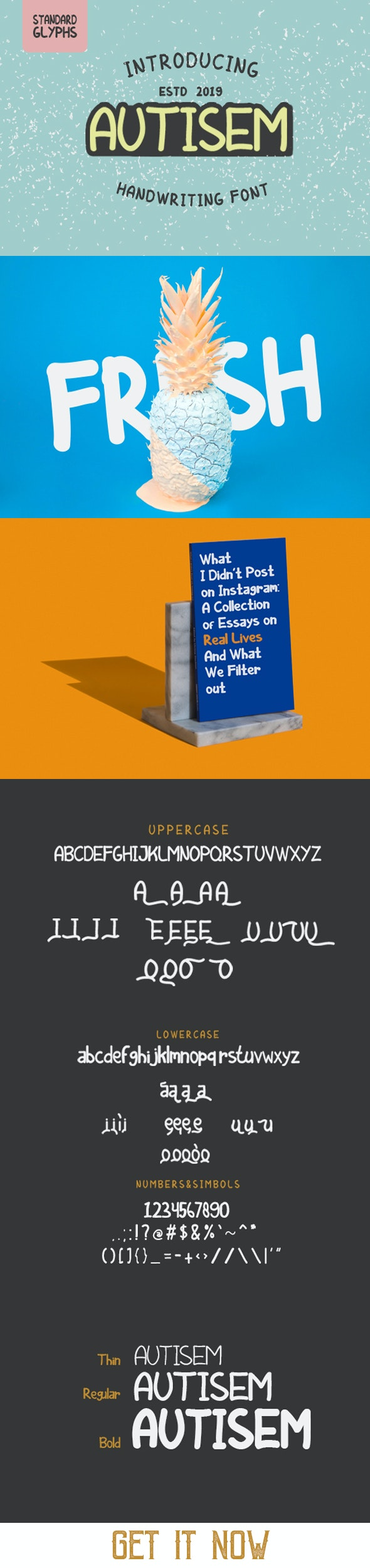 Autisem Font - Handwriting Fonts