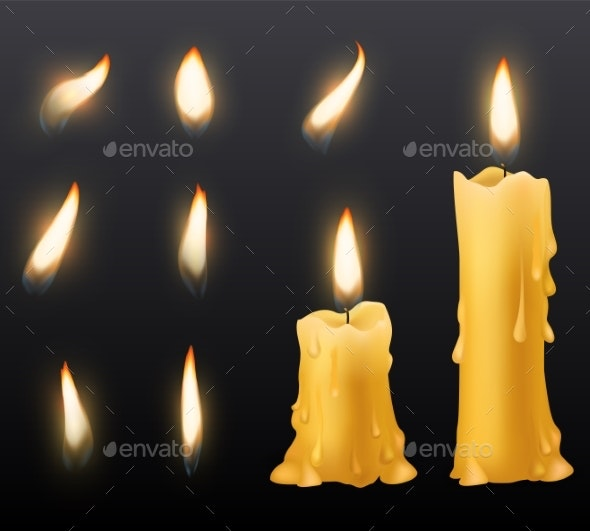 Burning Candles - Man-made Objects Objects