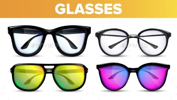 Glasses Set Vector - Man-made Objects Objects