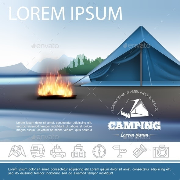 Realistic Camping Template - Sports/Activity Conceptual