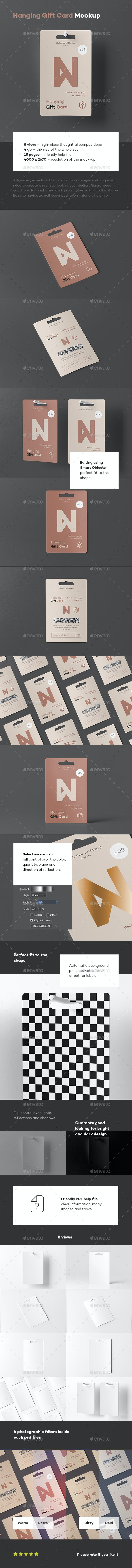 Hanging Gift Card Mock-up - Miscellaneous Print